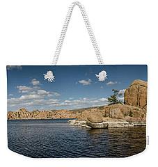 Watson Lake Panorama Weekender Tote Bag