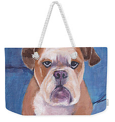 Weekender Tote Bag featuring the painting Watson by Patricia Cleasby