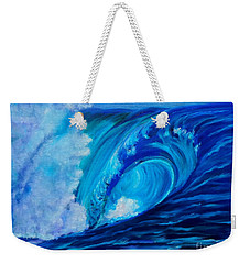 Weekender Tote Bag featuring the painting Wave 11 by Jenny Lee