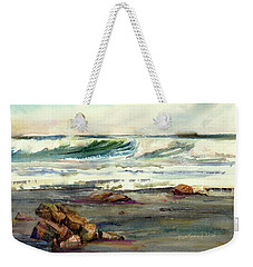 Wave Action Weekender Tote Bag