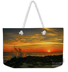 Wave Break Sunrise Weekender Tote Bag