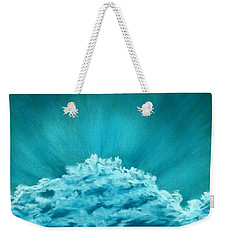 Weekender Tote Bag featuring the painting Wave Cloud - Sky And Clouds Collection by Anastasiya Malakhova
