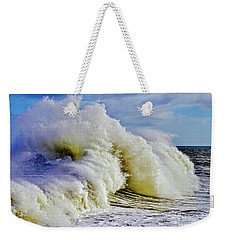 Moody Surf Weekender Tote Bag by Michael Cinnamond