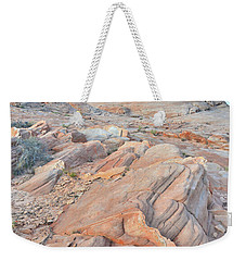 Wave Of Sandstone In Valley Of Fire Weekender Tote Bag by Ray Mathis