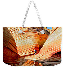 Wave Reflection Weekender Tote Bag