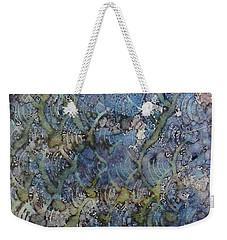 Weekender Tote Bag featuring the painting Wave Shadows Ink #7 by Sarajane Helm