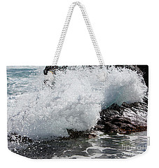 Wave Smash Weekender Tote Bag