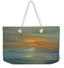Wave Swept Sunset Weekender Tote Bag by Dan Sproul