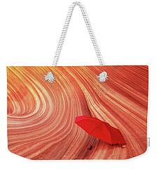 Weekender Tote Bag featuring the photograph Wave Umbrella by Norman Hall
