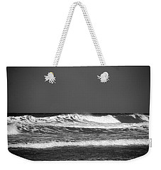 Waves 2 In Bw Weekender Tote Bag