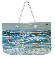 Waves And Wind Weekender Tote Bag