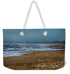 Weekender Tote Bag featuring the photograph Waves At Donoratico Beach - Spiaggia Di Donoratico by Enrico Pelos