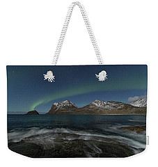 Waves At Night Weekender Tote Bag