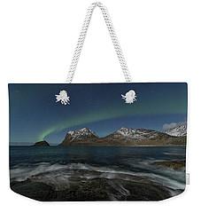 Waves At Night Weekender Tote Bag
