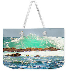 Waves At Pacific Grove California Weekender Tote Bag