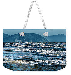 Weekender Tote Bag featuring the photograph Waves At Populonia Promontory - Onde Al Promontorio  by Enrico Pelos