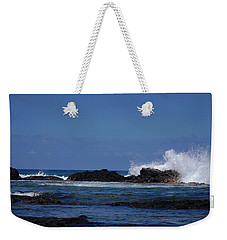 Waves Crashing Weekender Tote Bag by Pamela Walton