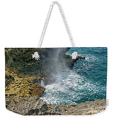 Waves Crushing On The Shore Weekender Tote Bag