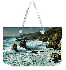 Waves Hitting The Rocks Weekender Tote Bag