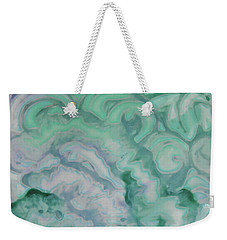 Weekender Tote Bag featuring the painting Waves by Michele Myers