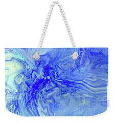 Waves Of Blue Weekender Tote Bag by Desiree Paquette