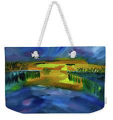 Waves Of Change Weekender Tote Bag by Meryl Goudey