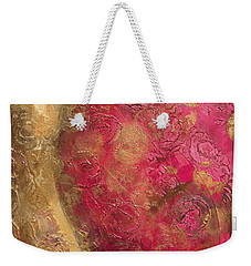 Waves Of Circles On Fuchsia Weekender Tote Bag