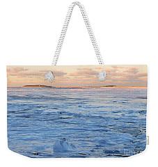 Waves Of Ice Weekender Tote Bag