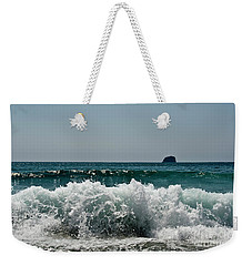 Waves Of Pacific Ocean. Coromandel,new Zealand Weekender Tote Bag