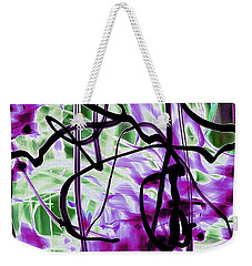 Waves Of Purple Weekender Tote Bag