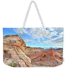 Waves Of Sandstone In Valley Of Fire Weekender Tote Bag by Ray Mathis