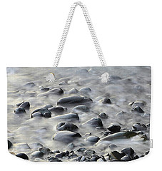Waves On Cobble-panoramic Weekender Tote Bag
