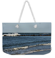 Weekender Tote Bag featuring the photograph Waves by Sandy Keeton