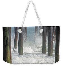 Waves Under The Pier Weekender Tote Bag
