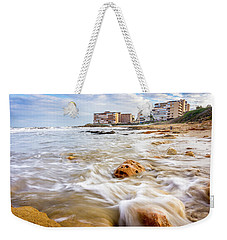 Waves Washing The Rocks Weekender Tote Bag