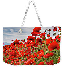 Waving Red Poppies Weekender Tote Bag