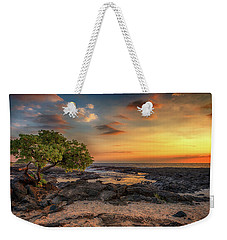 Weekender Tote Bag featuring the photograph Wawaloli Beach Sunset by Susan Rissi Tregoning