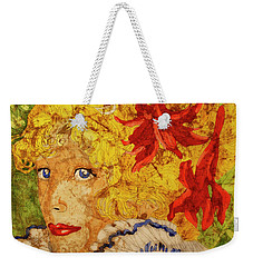 Wax On Wax Off Weekender Tote Bag by Cynthia Powell