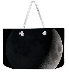 Waxing Crescent Moon Weekender Tote Bag
