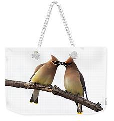 Waxwings In Love Weekender Tote Bag
