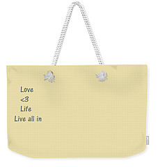 Weekender Tote Bag featuring the photograph Way Of Life  by Aaron Martens