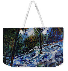 Weekender Tote Bag featuring the painting Way Of The Mono Trail by Walter Fahmy