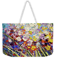 Weekender Tote Bag featuring the painting Way To Fairyland by Tatiana Iliina