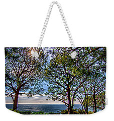 Weekender Tote Bag featuring the photograph Wayfarer's  Ocean View by Joseph Hollingsworth