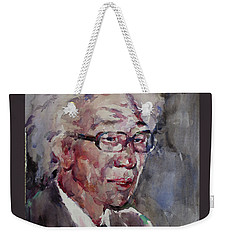 Wc Portrait 1624 My Papa Weekender Tote Bag by Becky Kim