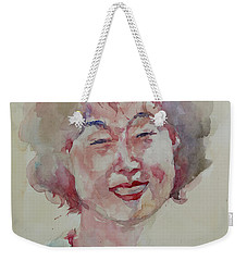 Wc Portrait 1627 My Sister Hyunju Weekender Tote Bag by Becky Kim