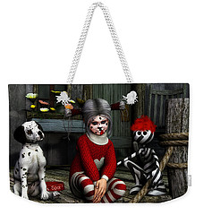 We Are Family Weekender Tote Bag by Jutta Maria Pusl