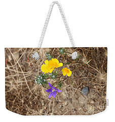 Weekender Tote Bag featuring the photograph We Are Family by Marie Neder