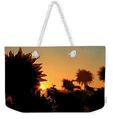 Weekender Tote Bag featuring the photograph We Are Sunflowers by Chris Berry