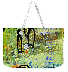 We Believe Romans 8 28 Weekender Tote Bag